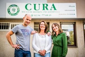 Das Team vom Pflegedienst cura